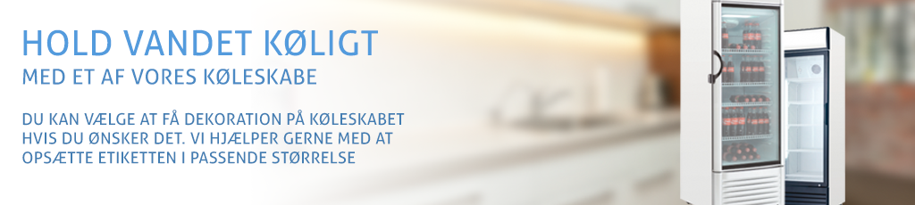 Køleskabe med glaslåge